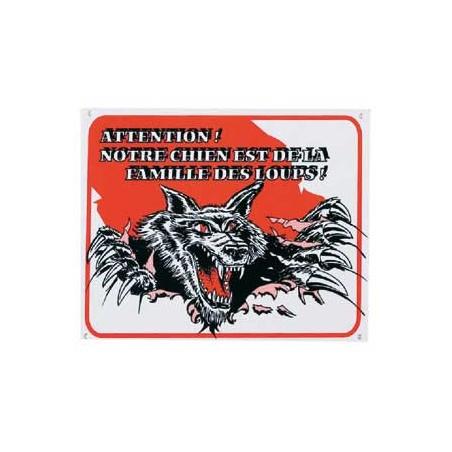 1 Plaque de garde Famille des loups