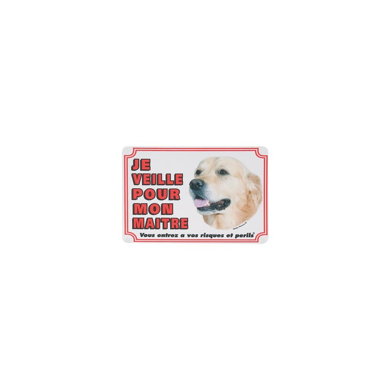 1 Plaque de garde Golden Retriever