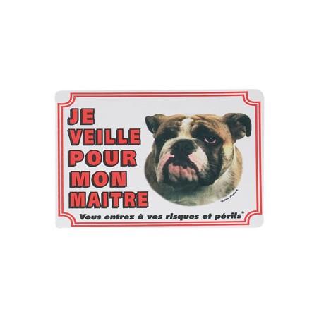 1 Plaque de garde Bulldog Anglais