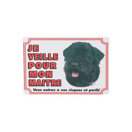 1 Plaque de garde Bouvier des Flandres