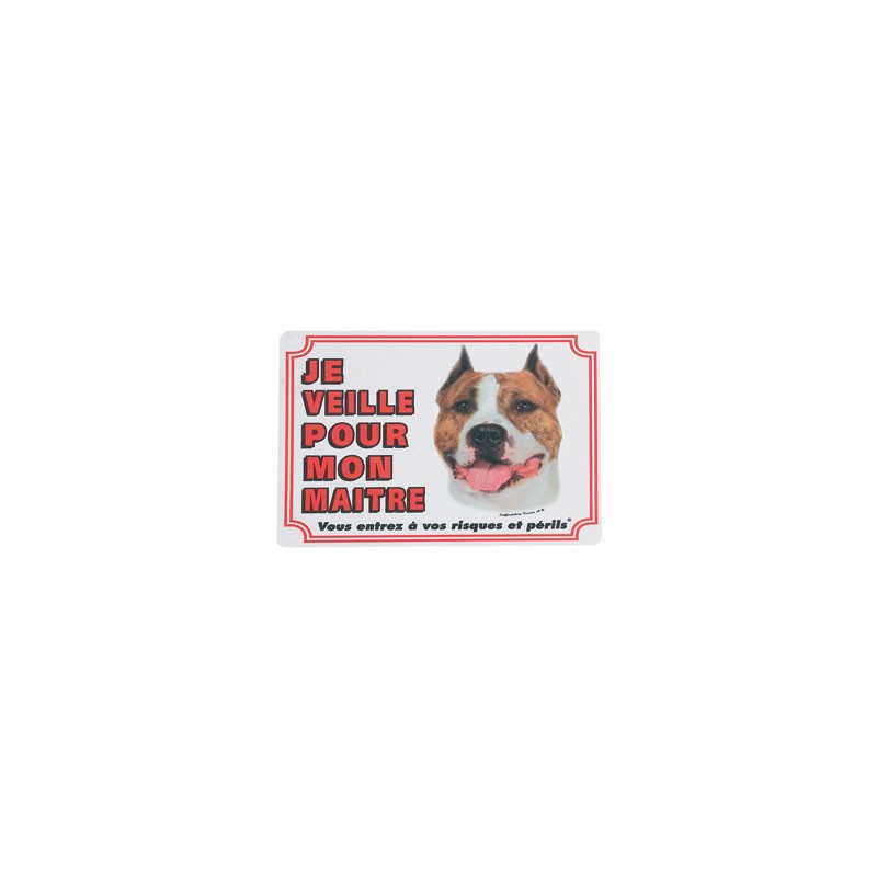 1 Plaque de garde Staffordshire Terrier