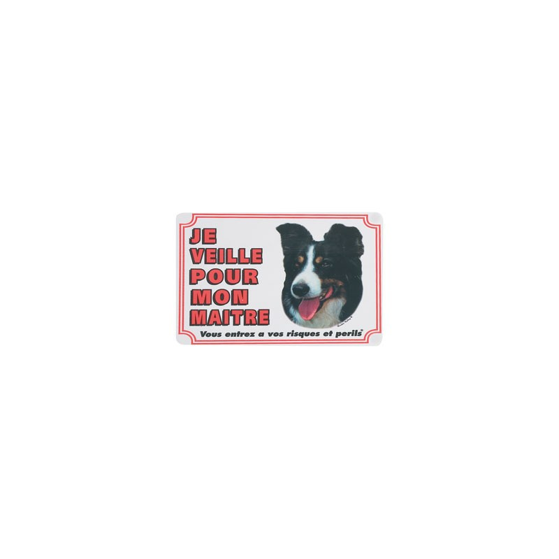 1 Plaque de garde Border Collie