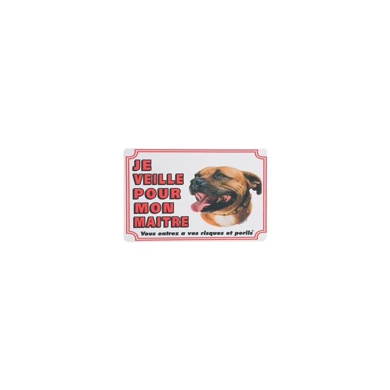 1 Plaque de garde Staffordhire Bull Terrier